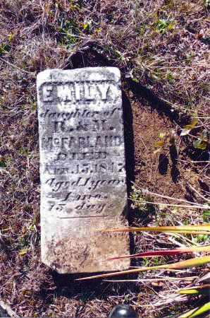 MCFARLAND, EMILY - Gallia County, Ohio | EMILY MCFARLAND - Ohio Gravestone Photos