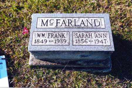 MCFARLAND, WILLIAM FRANKLIN - Gallia County, Ohio | WILLIAM FRANKLIN MCFARLAND - Ohio Gravestone Photos