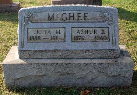 MCGHEE, ASHUR B - Gallia County, Ohio | ASHUR B MCGHEE - Ohio Gravestone Photos