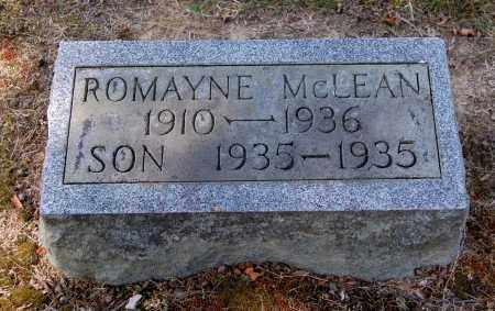 SHAVER MCLEAN, ROMAYNE - Gallia County, Ohio | ROMAYNE SHAVER MCLEAN - Ohio Gravestone Photos
