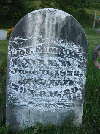 MCMILLEN, JOS. - Gallia County, Ohio | JOS. MCMILLEN - Ohio Gravestone Photos