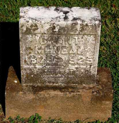 MCNEAL, GRANT - Gallia County, Ohio | GRANT MCNEAL - Ohio Gravestone Photos