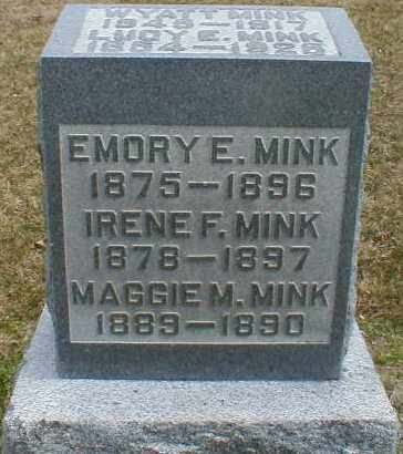 MINK, IRENE - Gallia County, Ohio | IRENE MINK - Ohio Gravestone Photos