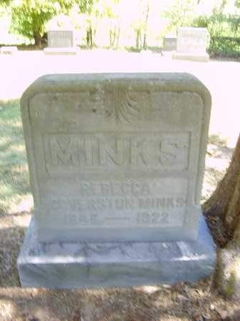 MINKS, REBECCA - Gallia County, Ohio | REBECCA MINKS - Ohio Gravestone Photos