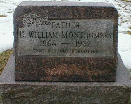MONTGOMERY, D. WILLIAM - Gallia County, Ohio | D. WILLIAM MONTGOMERY - Ohio Gravestone Photos