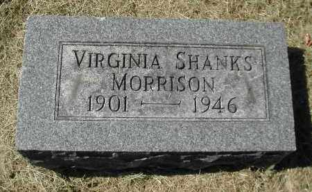 SHANKS MORRISON, VIRGINIA - Gallia County, Ohio | VIRGINIA SHANKS MORRISON - Ohio Gravestone Photos