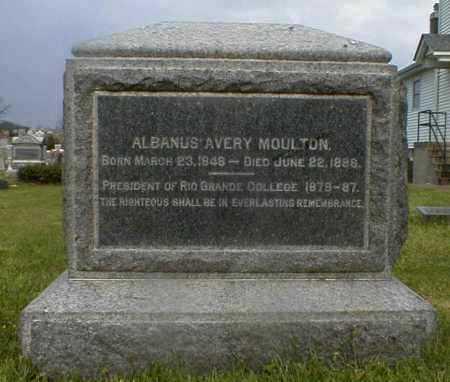 MOULTON, ALBANUS - Gallia County, Ohio | ALBANUS MOULTON - Ohio Gravestone Photos