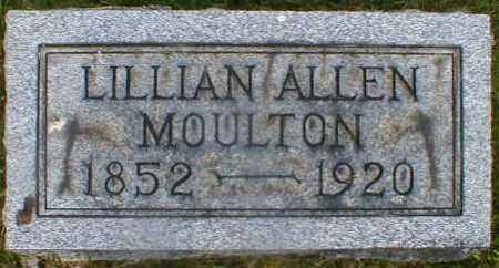 ALLEN MOULTON, LILLIAN - Gallia County, Ohio | LILLIAN ALLEN MOULTON - Ohio Gravestone Photos