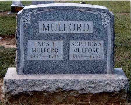 MULFORD, SOPHRONA - Gallia County, Ohio | SOPHRONA MULFORD - Ohio Gravestone Photos