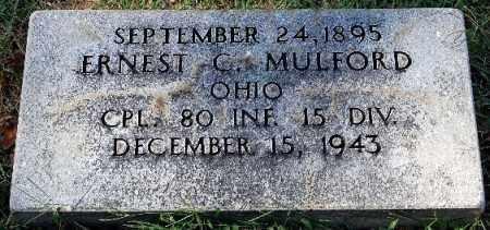MULFORD, ERNEST C. - Gallia County, Ohio | ERNEST C. MULFORD - Ohio Gravestone Photos
