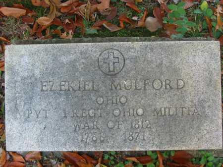 MULFORD, EZEKIEL - Gallia County, Ohio | EZEKIEL MULFORD - Ohio Gravestone Photos