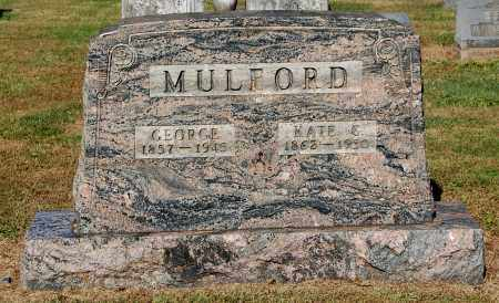MULFORD, GEORGE - Gallia County, Ohio | GEORGE MULFORD - Ohio Gravestone Photos