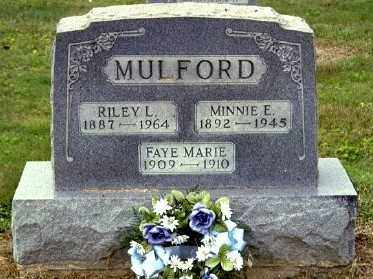 SAUNDERS MULFORD, MINNIE E - Gallia County, Ohio | MINNIE E SAUNDERS MULFORD - Ohio Gravestone Photos