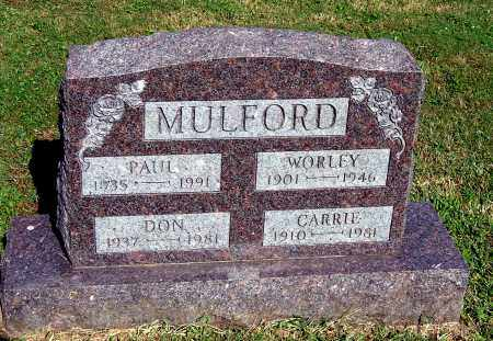 MULFORD, WORLEY - Gallia County, Ohio | WORLEY MULFORD - Ohio Gravestone Photos