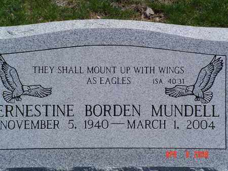 BORDEN MUNDELL, ERNESTINE - Gallia County, Ohio | ERNESTINE BORDEN MUNDELL - Ohio Gravestone Photos