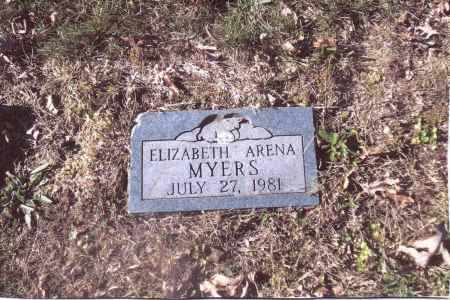 MYERS, ELIZABETH ARENA - Gallia County, Ohio | ELIZABETH ARENA MYERS - Ohio Gravestone Photos