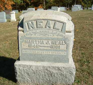 NEAL, MARTHA J. - Gallia County, Ohio | MARTHA J. NEAL - Ohio Gravestone Photos