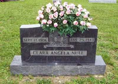 NULL, CLARA ANGELA - Gallia County, Ohio | CLARA ANGELA NULL - Ohio Gravestone Photos