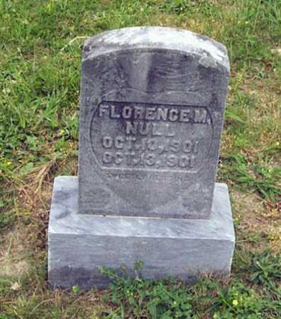 NULL, FLORENCE M. - Gallia County, Ohio | FLORENCE M. NULL - Ohio Gravestone Photos