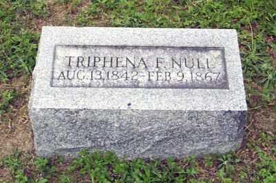 NULL, TRIPHENA F. - Gallia County, Ohio | TRIPHENA F. NULL - Ohio Gravestone Photos
