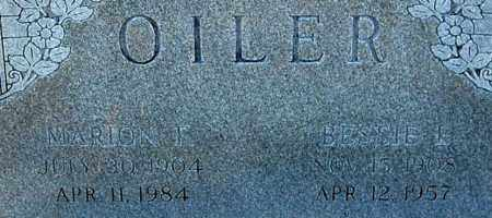 OILER, BESSIE E (CLOSE-UP) - Gallia County, Ohio | BESSIE E (CLOSE-UP) OILER - Ohio Gravestone Photos