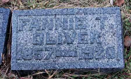 OLIVER, FANNIE T - Gallia County, Ohio | FANNIE T OLIVER - Ohio Gravestone Photos
