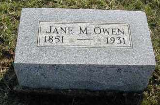 OWEN, JANE M. - Gallia County, Ohio | JANE M. OWEN - Ohio Gravestone Photos