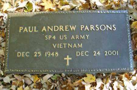 PARSONS, PAUL - Gallia County, Ohio | PAUL PARSONS - Ohio Gravestone Photos