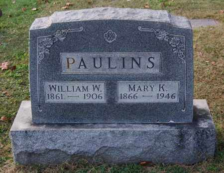 PAULINS, WILLIAM W - Gallia County, Ohio | WILLIAM W PAULINS - Ohio Gravestone Photos