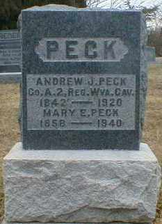 PECK, MARY - Gallia County, Ohio | MARY PECK - Ohio Gravestone Photos