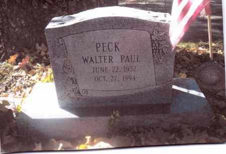 PECK, WALTER PAUL - Gallia County, Ohio | WALTER PAUL PECK - Ohio Gravestone Photos