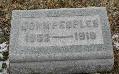 PEOPLES, JOHN - Gallia County, Ohio | JOHN PEOPLES - Ohio Gravestone Photos