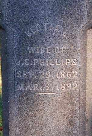 PHILLIPS, BERTIA L (CLOSE-UP) - Gallia County, Ohio | BERTIA L (CLOSE-UP) PHILLIPS - Ohio Gravestone Photos