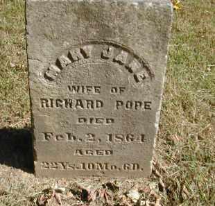 POPE, MARY - Gallia County, Ohio   MARY POPE - Ohio Gravestone Photos