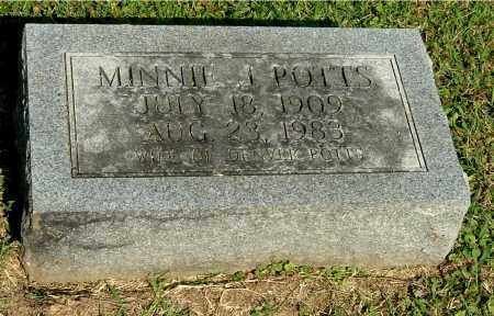 POTTS, MINNIE J - Gallia County, Ohio | MINNIE J POTTS - Ohio Gravestone Photos
