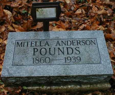 ANDERSON POUNDS, MITELLA - Gallia County, Ohio | MITELLA ANDERSON POUNDS - Ohio Gravestone Photos