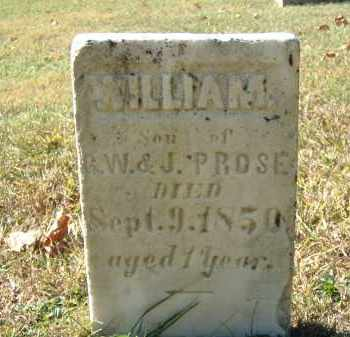PROSE, WILLIAM - Gallia County, Ohio | WILLIAM PROSE - Ohio Gravestone Photos