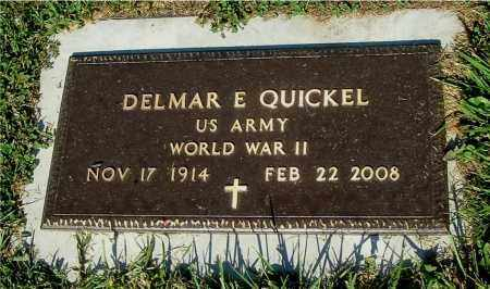 QUICKEL, DELMAR E - Gallia County, Ohio | DELMAR E QUICKEL - Ohio Gravestone Photos