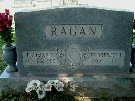 RAGAN, THOMAS E - Gallia County, Ohio | THOMAS E RAGAN - Ohio Gravestone Photos