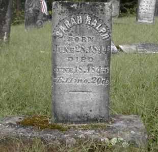 RALPH, SARAH - Gallia County, Ohio | SARAH RALPH - Ohio Gravestone Photos