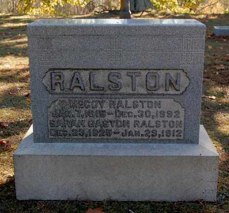 RALSTON, SARAH - Gallia County, Ohio | SARAH RALSTON - Ohio Gravestone Photos