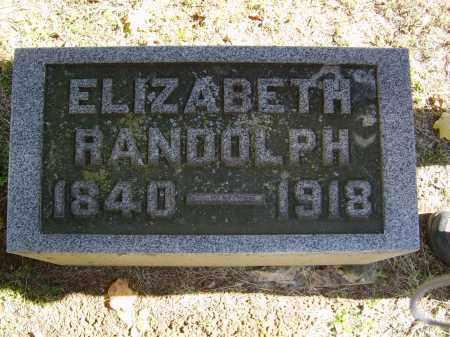 RANDOLPH, ELIZABETH - Gallia County, Ohio | ELIZABETH RANDOLPH - Ohio Gravestone Photos