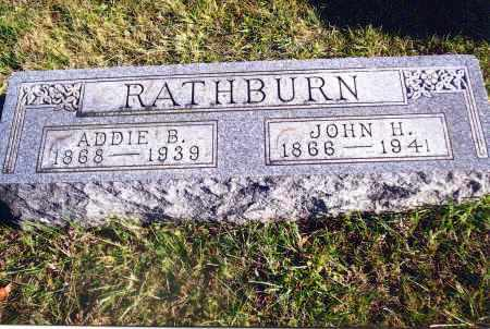 BOATMAN RATHBURN, ADDIE - Gallia County, Ohio | ADDIE BOATMAN RATHBURN - Ohio Gravestone Photos