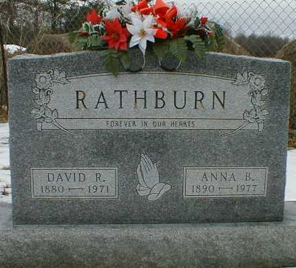 HACK RATHBURN, ANNA - Gallia County, Ohio | ANNA HACK RATHBURN - Ohio Gravestone Photos