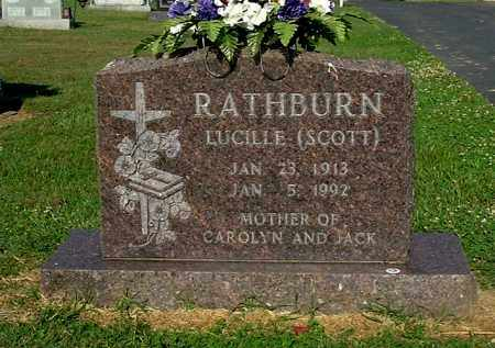SCOTT RATHBURN, LUCILLE - Gallia County, Ohio | LUCILLE SCOTT RATHBURN - Ohio Gravestone Photos