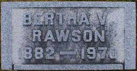 RAWSON, BERTHA - Gallia County, Ohio | BERTHA RAWSON - Ohio Gravestone Photos