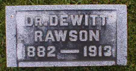 RAWSON, DEWITT - Gallia County, Ohio | DEWITT RAWSON - Ohio Gravestone Photos