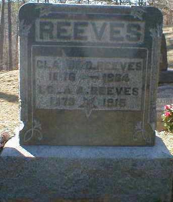 REEVES, LOLA - Gallia County, Ohio | LOLA REEVES - Ohio Gravestone Photos