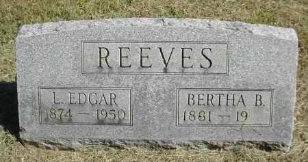 REEVES, BERTHA - Gallia County, Ohio | BERTHA REEVES - Ohio Gravestone Photos