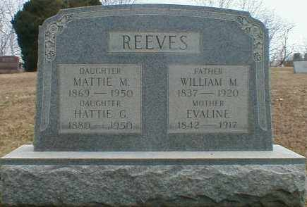 REEVES, MATTIE - Gallia County, Ohio | MATTIE REEVES - Ohio Gravestone Photos